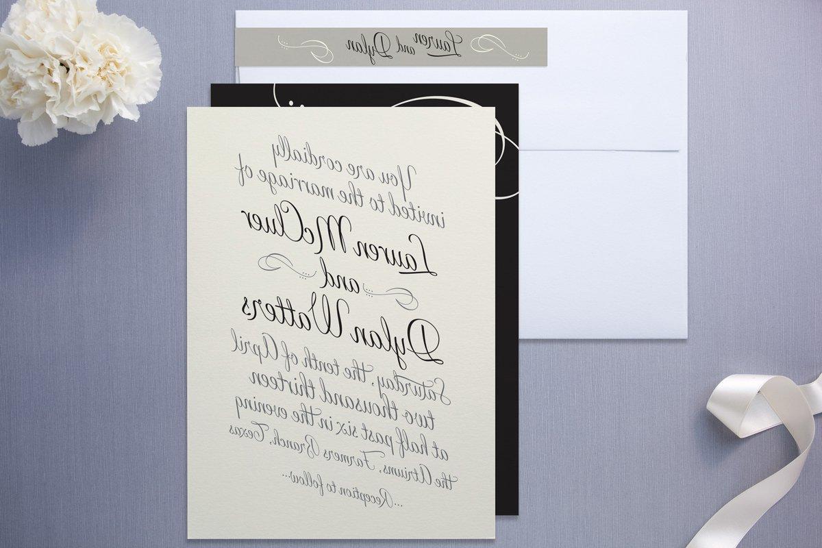 These wedding invitations call