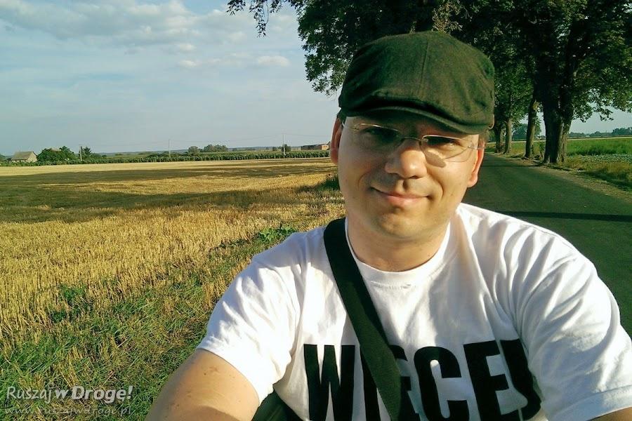 Maciej na bryczce w Nowem