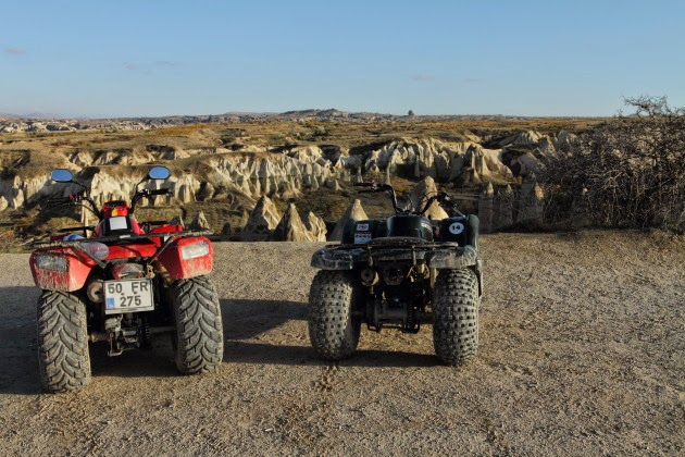 Quad biking through Love Valley, Cappadocia, Turkey