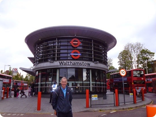 Tony Mason outside Walthamstow Central Tube Station
