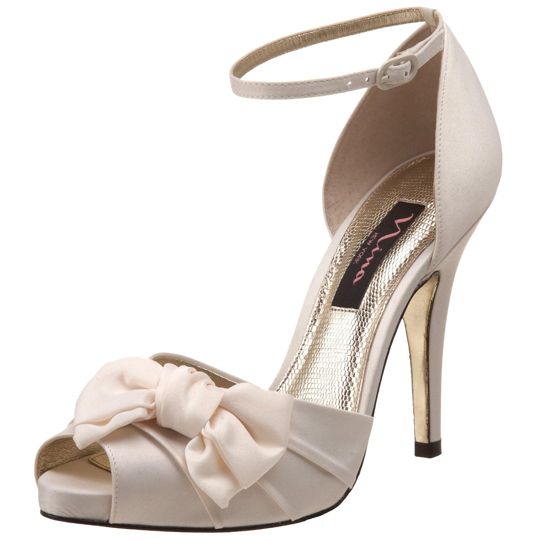 wedding ivory platform shoes