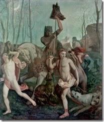 Pierre Puvis de Chavannes - The return of the hunt