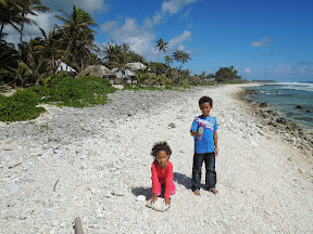 """The """"beach"""" in front of our accommodation - The Sunrise Bungalows"""