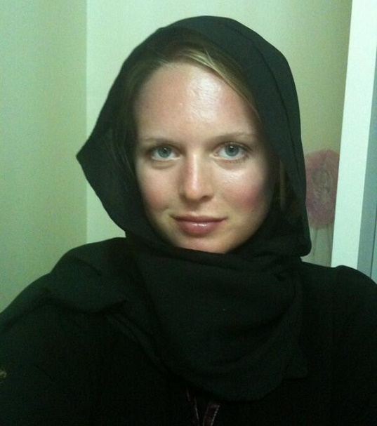 white women wearing hijab