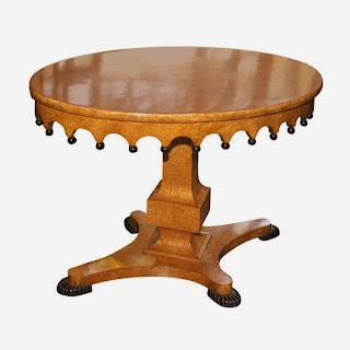 Антикварный, Русский овальный стол из карельской берёзы ок.1830 г. 70/103/71 см. 10000 евро.