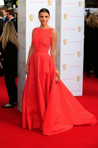 Lucy Mecklenburgh attends the House of Fraser British Academy Television Awards