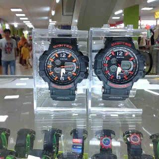 Jual jam tangan Digitec dual time Original