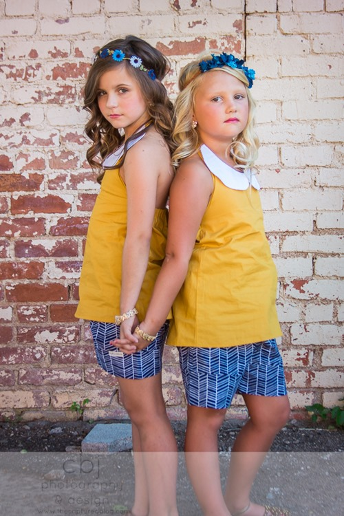 Daydream Believers Designs handcrafted, retro inspired, clothing for girls. The Belle top and Emmy shorts for Captured by Jes. LOVE the styling!