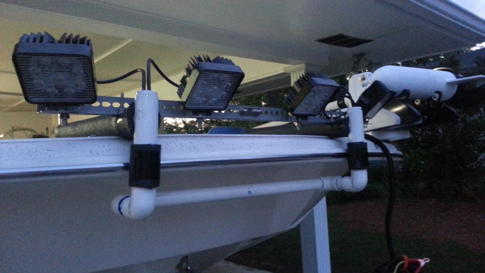 Flounder giggin riggin for Night fishing light setup