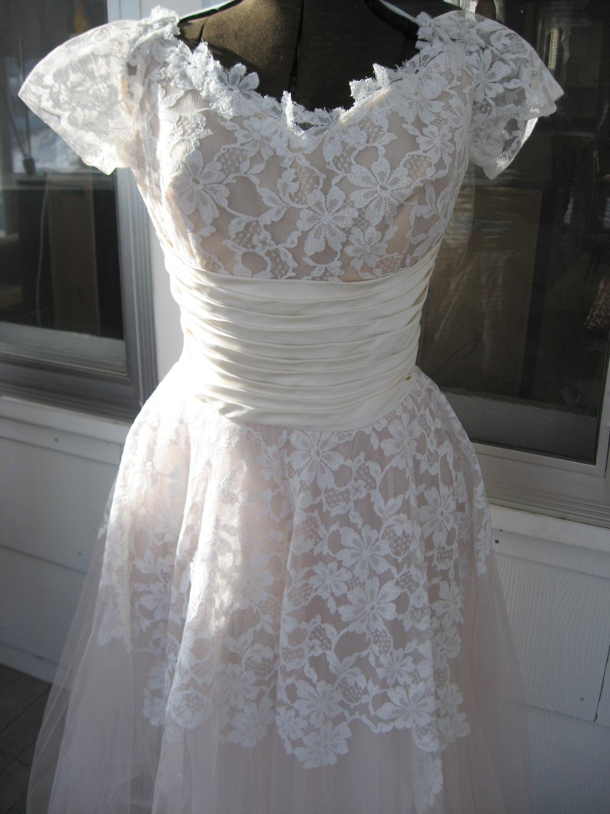 a 1950s wedding dress!