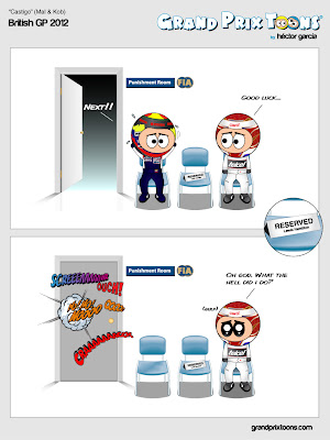 FIA punishment room - комикс Grand Prix Toons по Гран-при Великобритании 2012