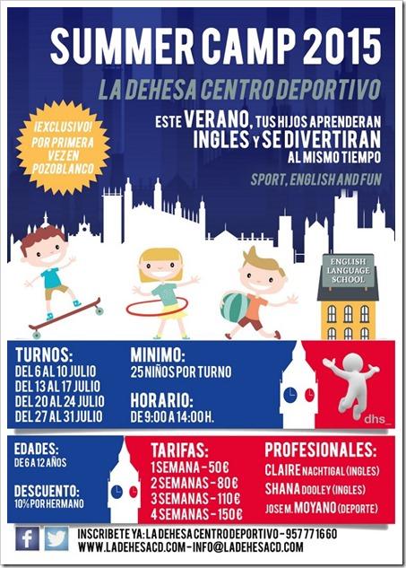 Summer Camp 2015 La Dehesa (Pozoblanco). La combinación perfecta: deporte, diversión e inglés.
