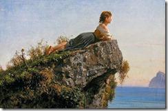 filippo-palizzi-muchacha-sobre-la-roca-en-sorrento-pintores-y-pinturas-juan-carlos-boveri