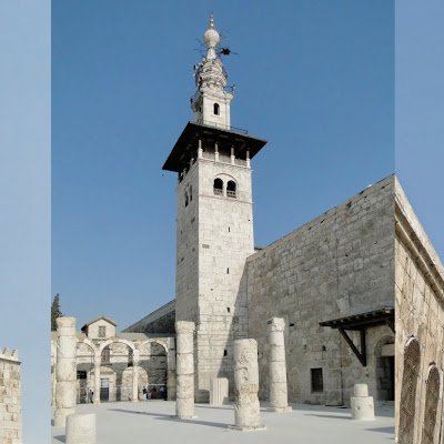Minarets of Great Mosque of Damascus in Syria.jpg