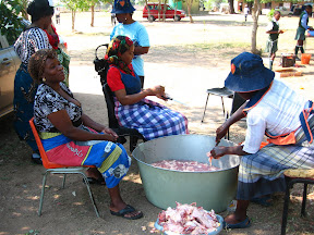 And some more teachers preparing the chicken (they killed 100 chickens for our function, and 1 cow!).