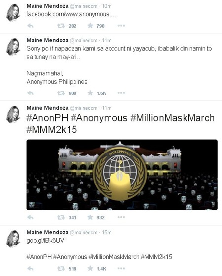 Maine Mendoza Twitter account hacked