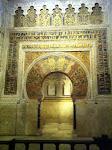 La Mezquita - katedra w Kordobie, wgłębienie w ścianie wskazujace kierunek Mekki