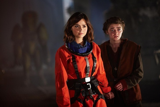Jenna Colemand and Maisie Williams in Doctor Who - The Girl Who Died
