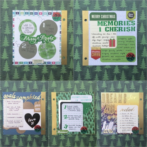 december 2015 listers gotta list the reset girl scrapbook paper craft diy mini album memory keeping project life december daily