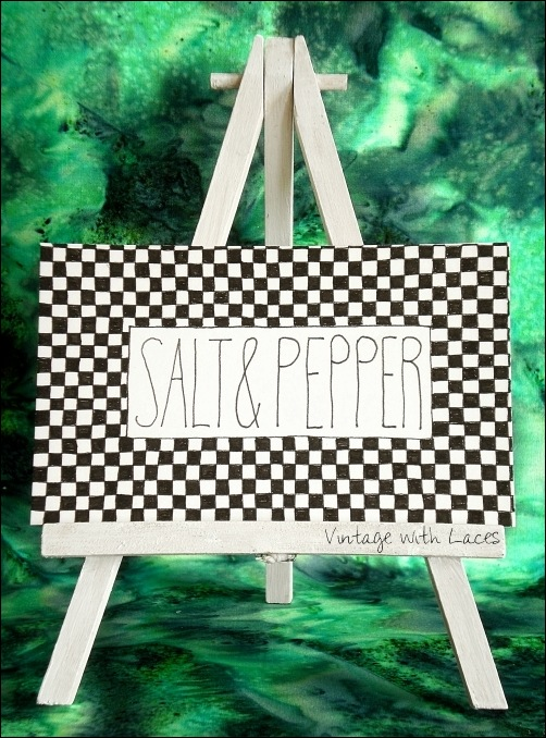 ICAD - Salt & Pepper by Vintage with Laces