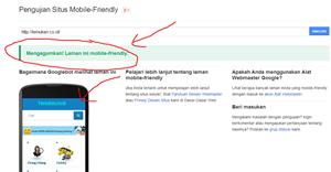 cek blog mobile friendly