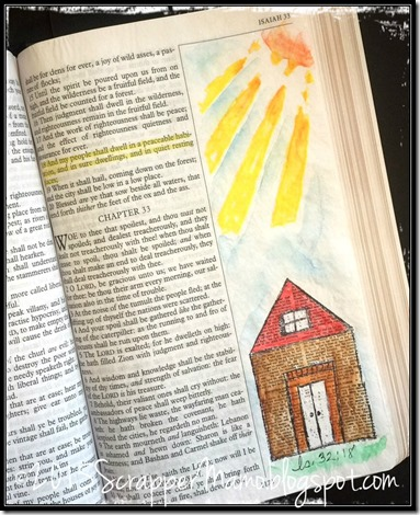 Bible Art Journaling Peaceful Dwellings