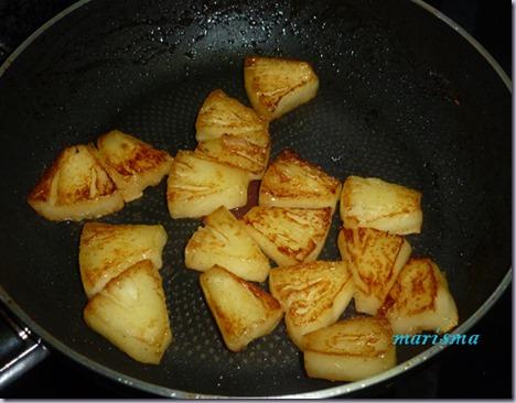 postre ligero de queso y piña asada5 copia