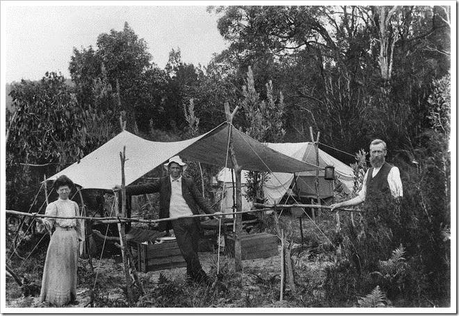 moreton island camping vintage