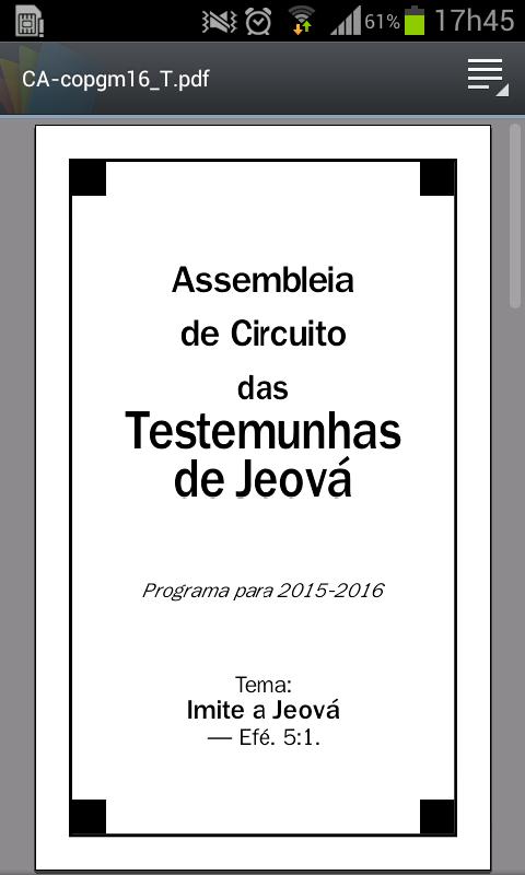 Evento em Sobral: Testemunhas de Jeová convidam todos a assistirem a sua Assembléia , 05 e 06 de dezembro!