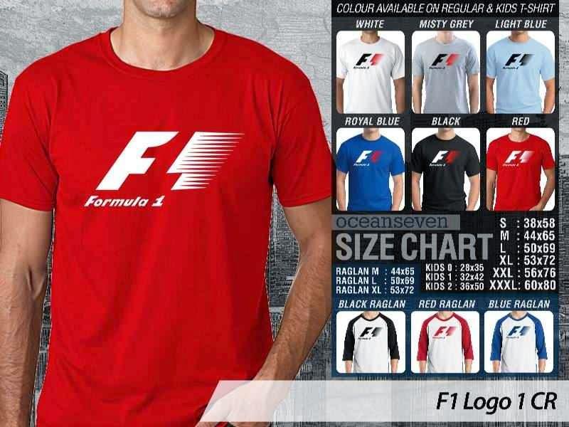 KAOS F1 formula 1 Logo Otomotif distro ocean seven