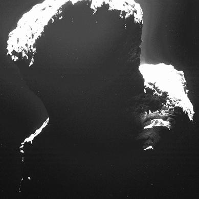 região polar sul do cometa