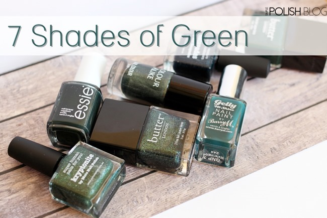 7-Shades-of-Green-Nailpolish-2
