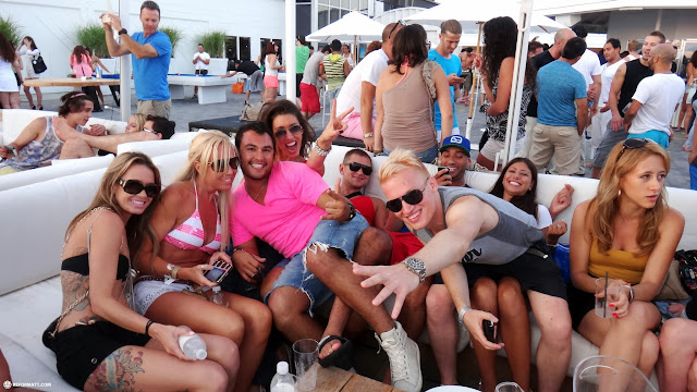 party at the Cabana poolbar in Toronto in Toronto, Ontario, Canada