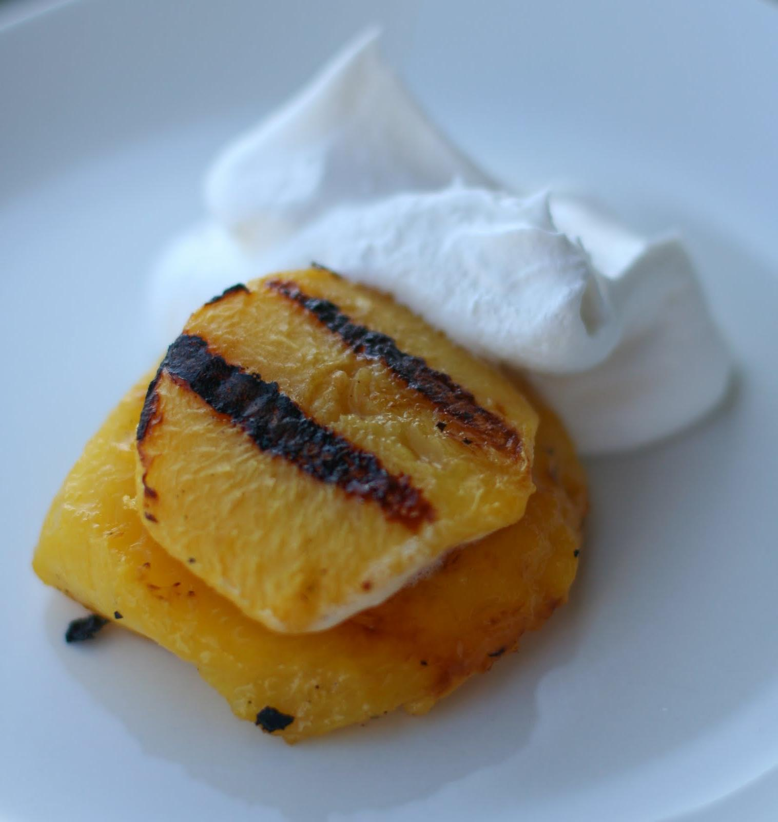 Grilled Peaches and Cool Whip