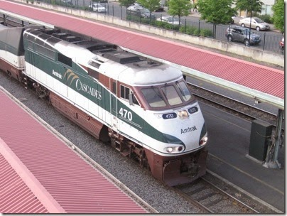 IMG_6681 Amtrak Cascades F59PHI #470 at Union Station in Portland, Oregon on May 27, 2007