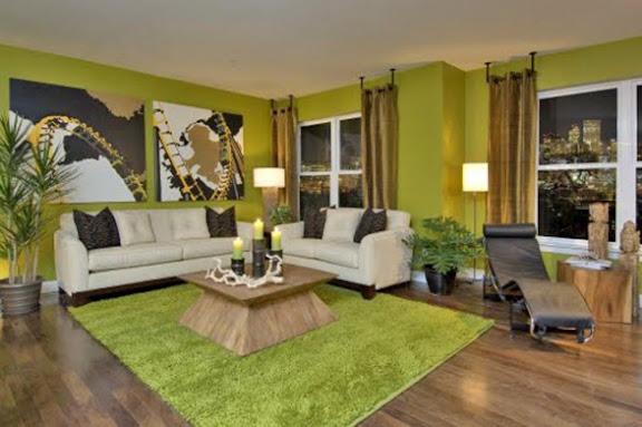 frisch und gemütlich , wohnzimmer in grün