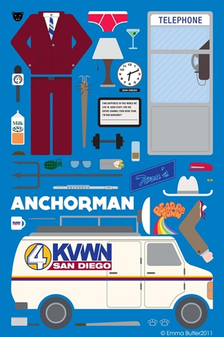 Movie Parts Series Anchorman by Emma Butler