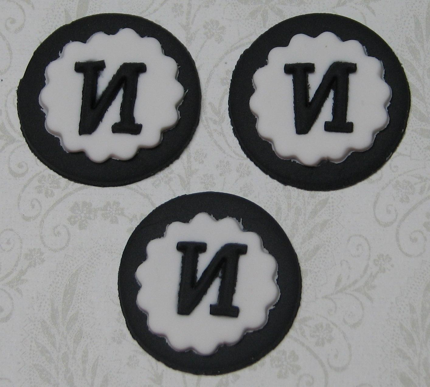 12 Wedding monogram circle