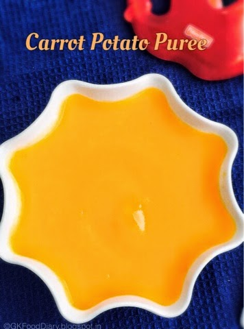 Carrot Potato Puree for Babies
