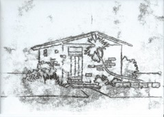 monoprint conch cottage