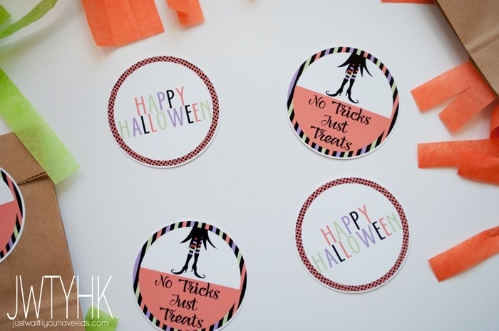 Use these cute and free Halloween tags for your Halloween goodie bags
