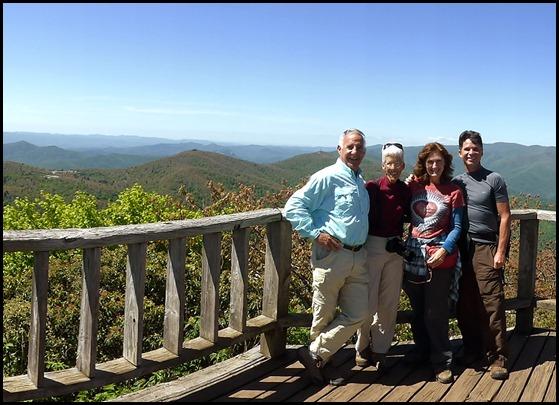 04e2 -At Mt. Pisgah Summit - Bill, Nancy, Sharon, David