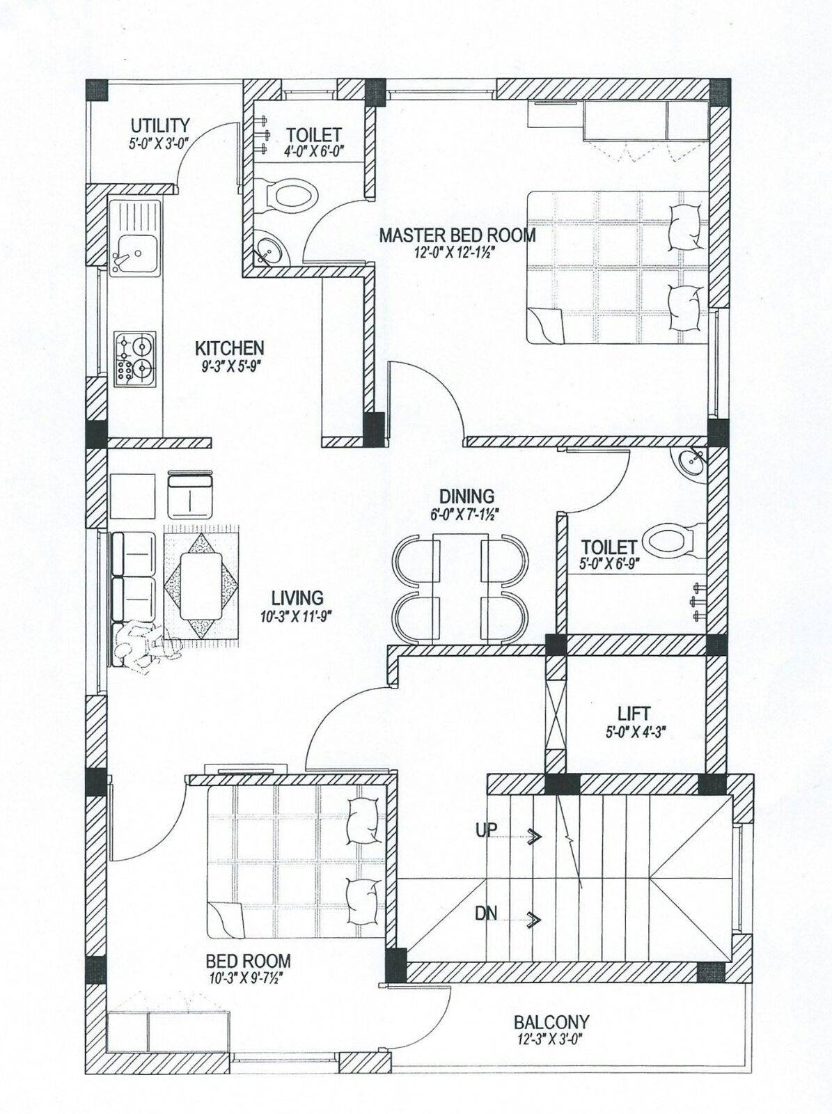 architect Plans Two bed room plans double bedrooms plan House plans Home plans Two bedroom homes double bedroom residence plans