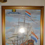 painting of a Dutch vessel at the Seabaron in Reykjavik, Hofuoborgarsvaeoi, Iceland