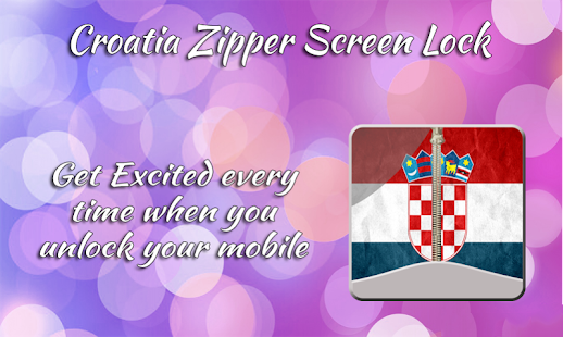 Croatia Zipper ScreenLock - screenshot