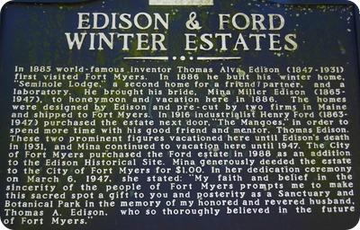 Edison & Ford Winter Estate