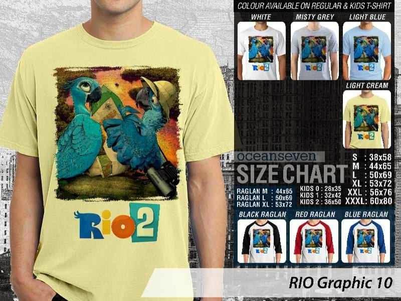 Kaos Film Animasi Lucu Desain RIO Graphic 10 distro ocean seven