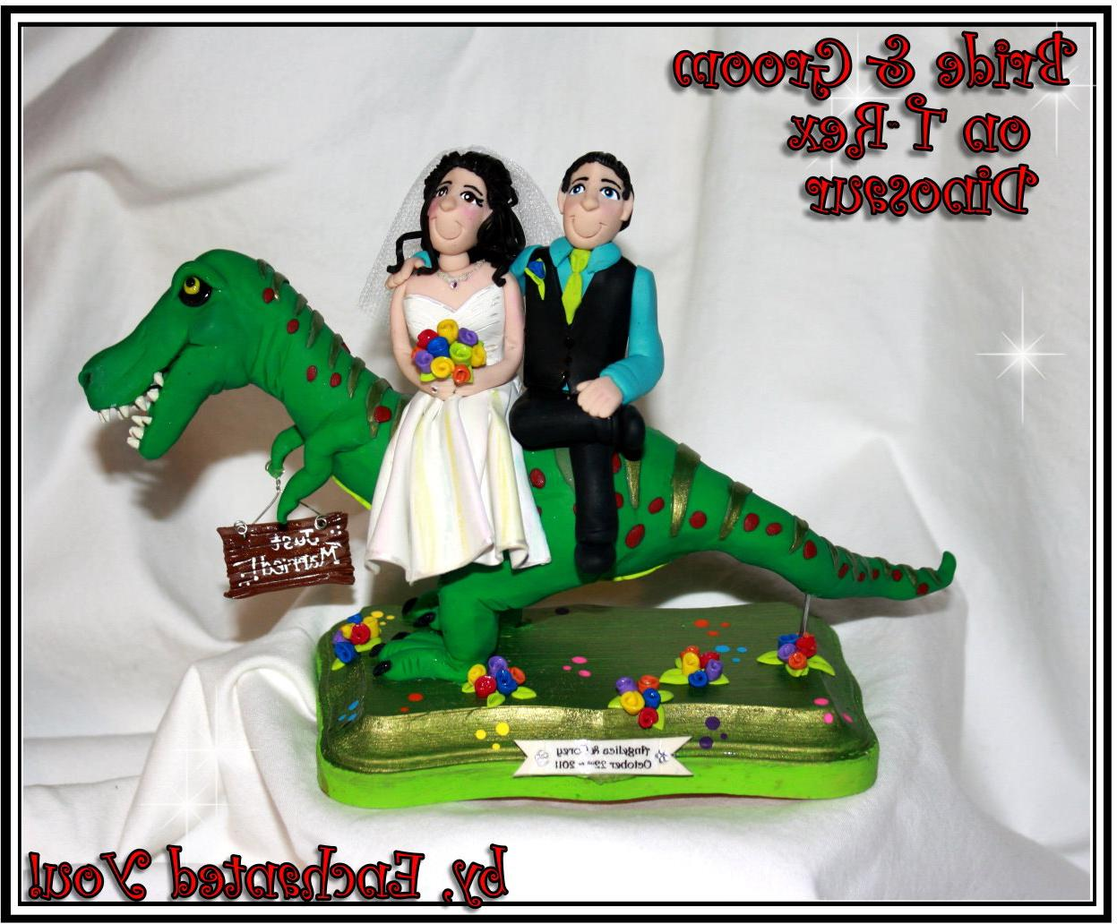 Dinosaur Wedding Cake Topper,