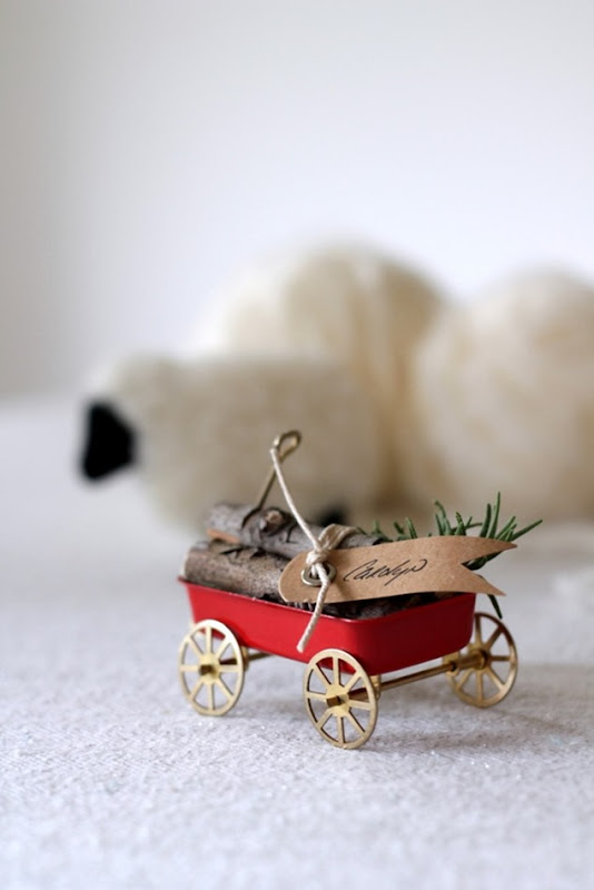 Vintage Wagon & Log Place Cards by homework (carolynshomework (5)