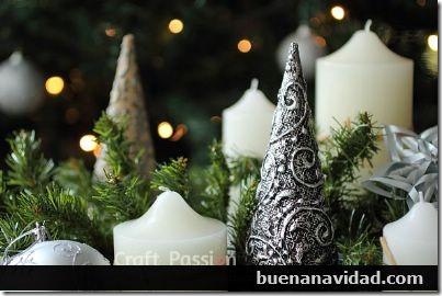arbol navidad plateado con relieve buenanavidad com (12)